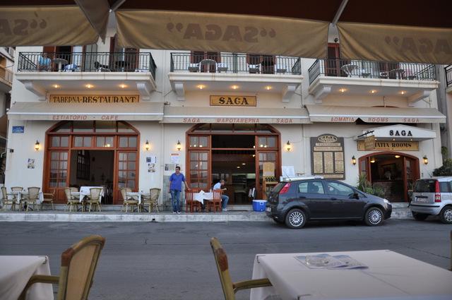 Manger au restaurant-taverne le Saga à Gythion